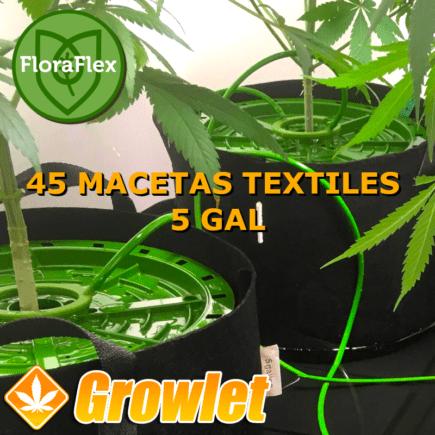 Kit riego Floraflex para 48 macetas textiles de 5 GAL (19 l)